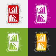 Stock Illustration of Drawing business formulas: chart