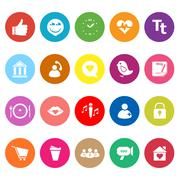 chat conversation flat icons on white background - stock illustration