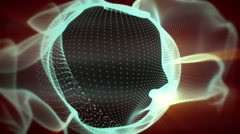 Sphere created by particles and smoke Stock Footage