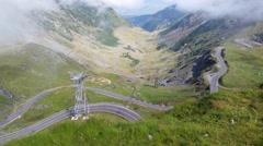Transfagarasan mountain road, Timelapse Romanian Carpathians - stock footage