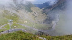 Balea lake view - Transfagarasan 4K video Stock Footage