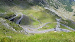 Transfagarasan mountain road, Timelapse Romanian Carpathians Stock Footage