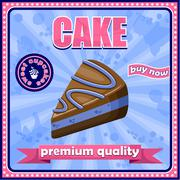 Stock Illustration of picture of a vintage poster with a cake.0