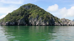 Seascape, Island, Sea Voyage in Marine Park Mu Ko Ang Thong in Gulf of Thailand - stock footage