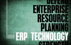 Erp technology Stock Illustration