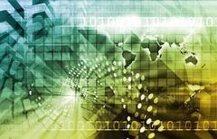 telecommunications technology - stock illustration