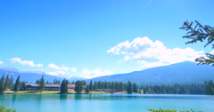 4K Alberta, Fairmont Jasper Park Lodge, Beautiful Scenery Stock Footage
