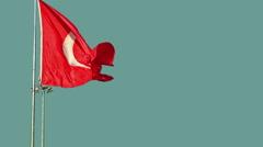 Turkey flag Stock Footage
