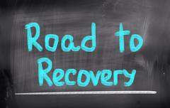 Road to recovery concept Stock Illustration