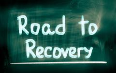 Stock Photo of road to recovery concept
