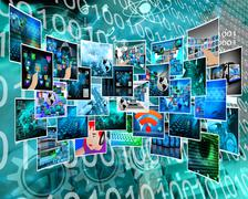 Stock Illustration of internet cyberspace