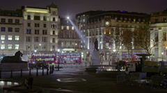 Zoom-out, time-lapse of London at night Stock Footage