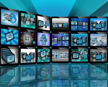 Tv on the internet Stock Illustration