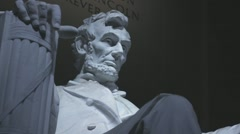Abramham lincoln statue close shot 85mm 1080p 24fps Stock Footage