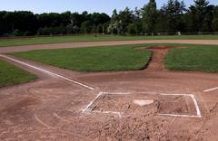 unoccupied baseball field - stock photo