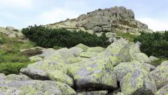The rock formation Violik. Karkonosze/Krkonose mountains Stock Footage