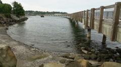 Boulevard Park Pier, Bellingham Stock Footage