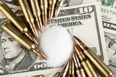 drug money - stock photo