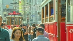 Istiklal Avenue jam in Istanbul Stock Footage