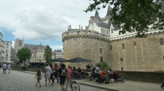 Chateau des ducs de Bretagne - Nantes France - HD 4k+ Stock Footage