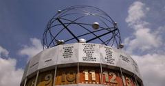UltraHD 4K German Fernsehturm Berlin World Time Clock Germany Alexanderplatz Stock Footage