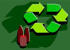 Recycling facility Stock Illustration