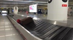 Not Collected Baggage Carousel at Airport Stock Footage