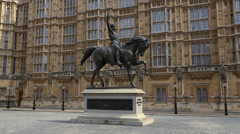 Statue at House of Lords Westminster London Stock Footage