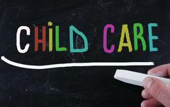 childcare concept - stock illustration