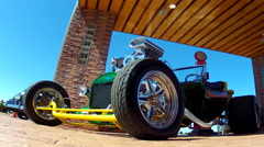 Custom Hot Rod At Route 66 Store- Valle Arizona Stock Footage
