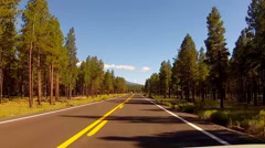 Stock Video Footage of Viewpoint Of Driver On Hwy 180 In Coconino National Forest