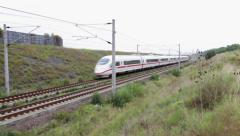 German high speed train passing by - stock footage