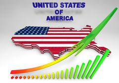 U.s.a. mapped flag in 3d illustration . Piirros