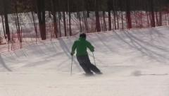 Expert skier from behind - stock footage