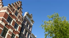Detail historic Dutch houses Stock Footage