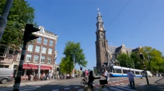Traffic in Amsterdam Stock Footage