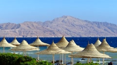 Sea beach in Egypt Stock Footage