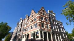 Amsterdam old historic houses Stock Footage