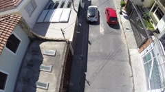 Aerial view of a road in Sao Paulo, Brazil Stock Footage