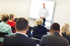 Speaker at Business convention and Presentation. - stock photo