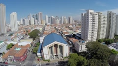 Aerial view from a Church in Sao Paulo, Brazil - stock footage