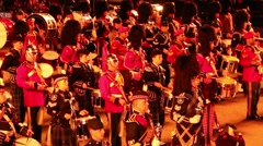 Military Band Parade Stock Footage