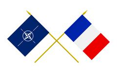 flags, nato and france - stock illustration