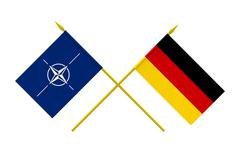 flags, nato and germany - stock illustration