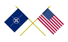flags, nato and usa - stock illustration