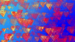 Abstract Animated Pyramids - 4K Resolution Ultra HD Stock Footage