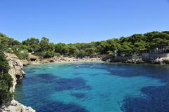 Mallorca, cala rajada, bay of cala gat Stock Photos