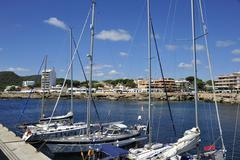 At the port of Cala Ratjada in Mallorca - stock photo