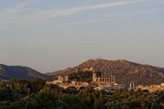 Mallorca,view of Arta in the evening sun - stock photo