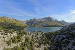 Mallorca ,at the Panta de Gorg Blau Stock Photos